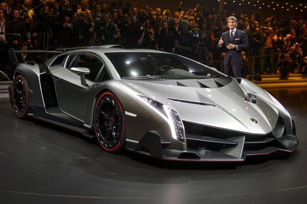 The Lamborghini Veneno on display at the Geneva Motor Show, on March 4, 2013.