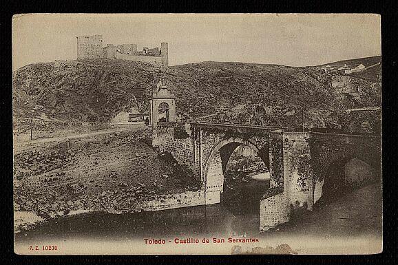 Castillo de San Servando hacia 1908. Foto P.Z.