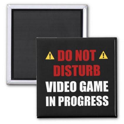 Do Not Disturb Video Game Magnet