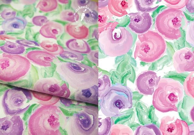 Painted flowers, wzory, tkaniny, CottonBee, wydruk, bawełna, kwiaty, projekty