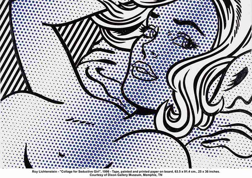 "Roy Lichtenstein - ""Collage for Seductive Girl"", 1996 by artimageslibrary"