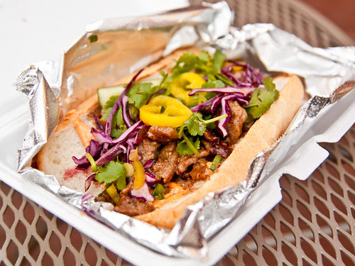 Grilled BBQ lemongrass pork banh mi
