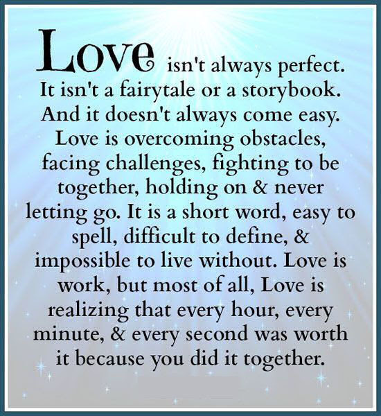 Love Is Not Always Perfect Pictures Photos And Images For Facebook