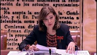 La secretària d'estat de Seguretat, Ana Botella, aquest dimarts al Senat