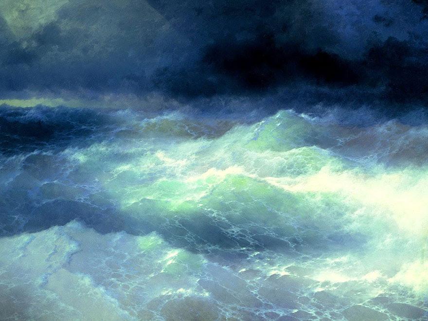 -pintura del siglo fascinantes-translúcidos ondas-19a-ivan-konstantinovich-aivazovsky-4