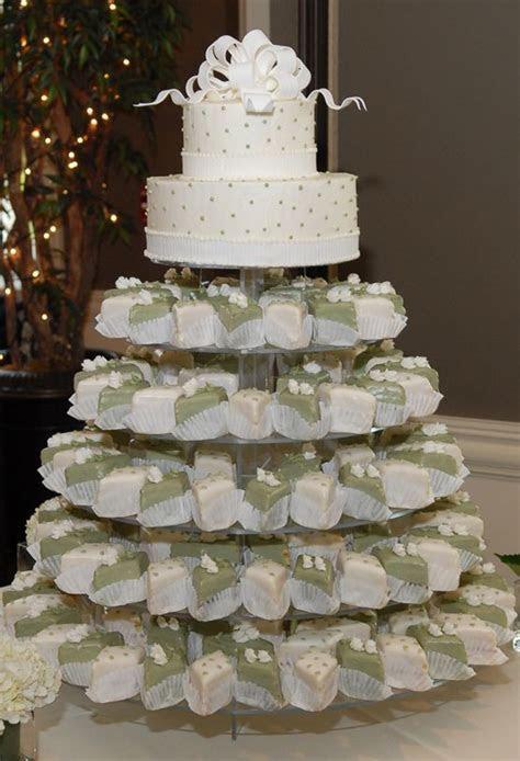 Petit four wedding cake  I don't like the colours but