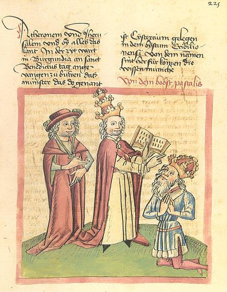The coronation of Henry V by Pope Paschal II