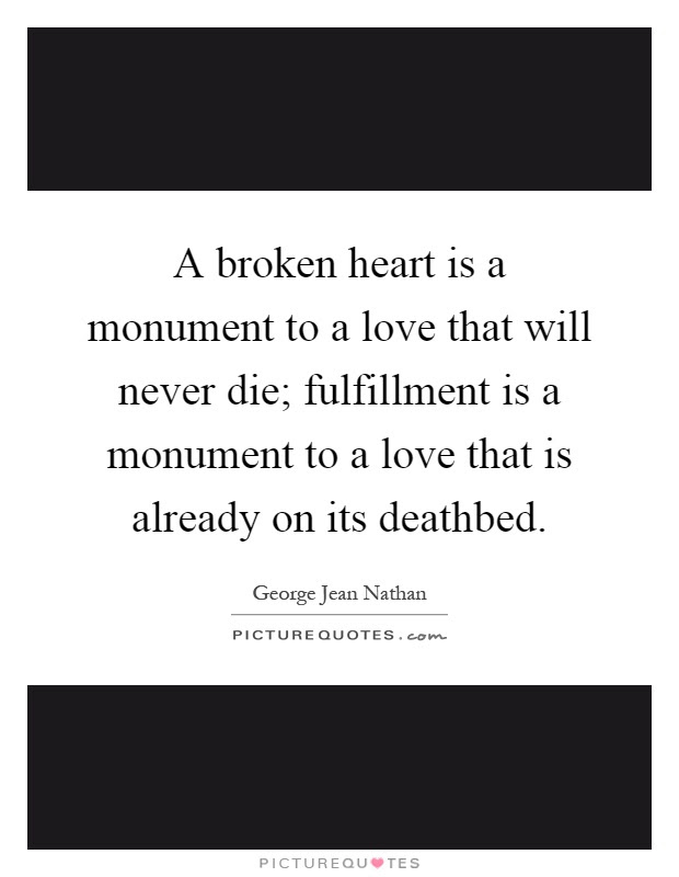 A Broken Heart Is A Monument To A Love That Will Never Die