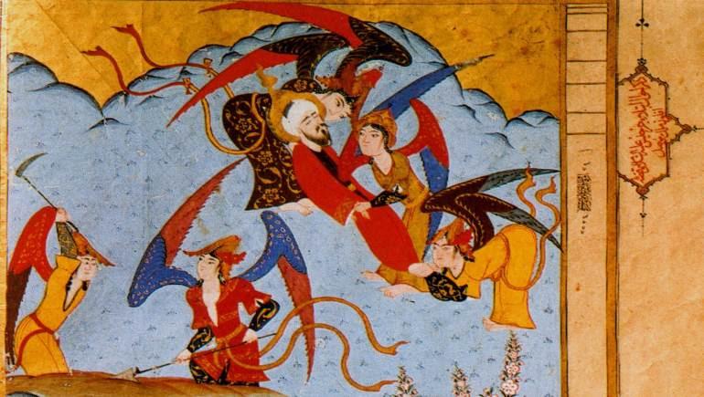 """ابتلاء جرجيس، """"زبدة التواريخ""""، القرن السادس عشر، سرايا توبكابي، اسطنبول."""