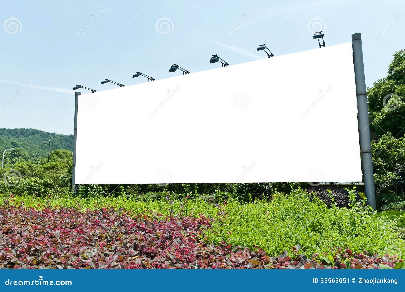 Blank Outdoor Billboard Stock Image - Image: 33563051