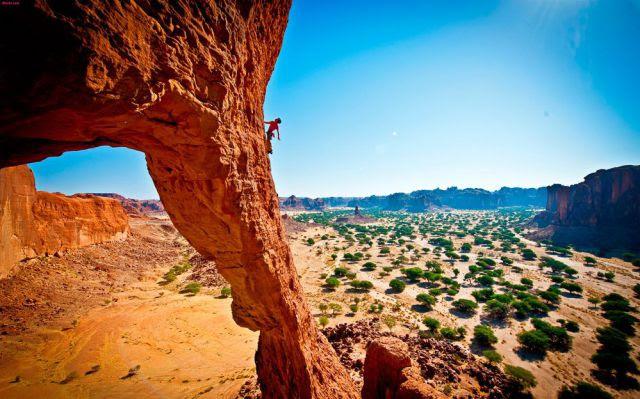 roca en el desierto