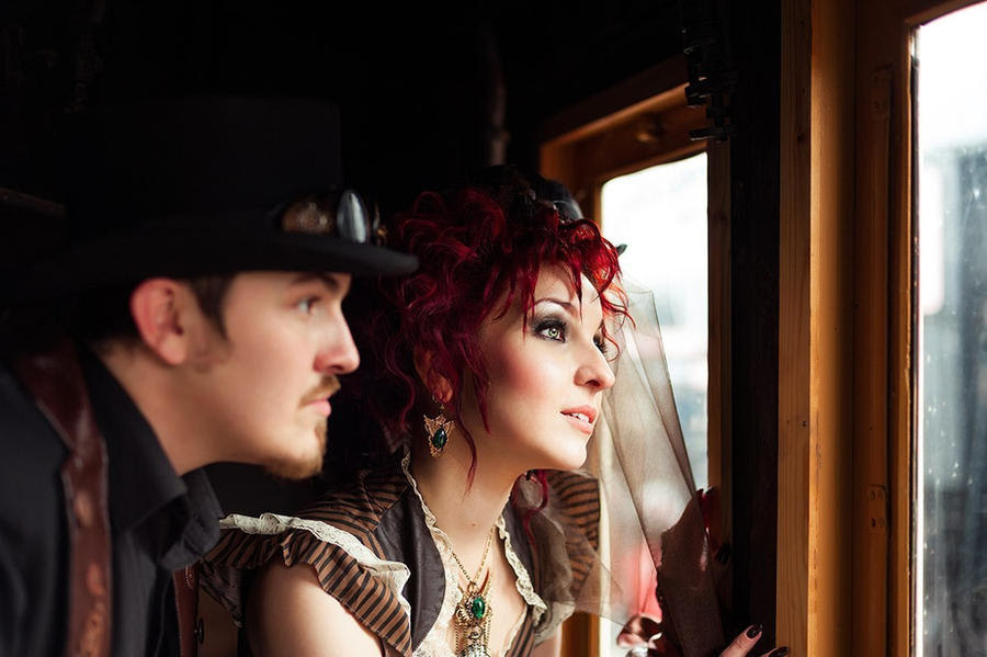 Steampunk wedding by Pinkabsinthe