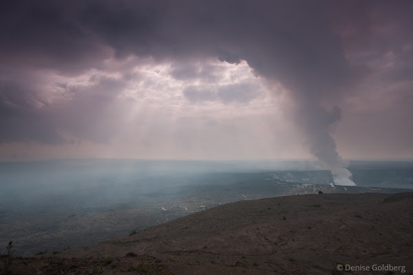 plume rising, hawaii volcanoes national park