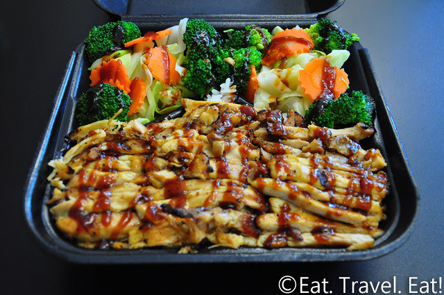 California Teriyaki Grill- University Town Center, Irvine, California: Chicken Veggie Plate