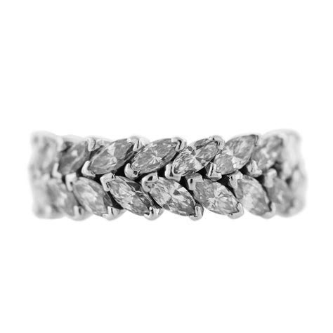 Platinum 6 Carat Marquise Cut Diamond Eternity Ring Boca Raton