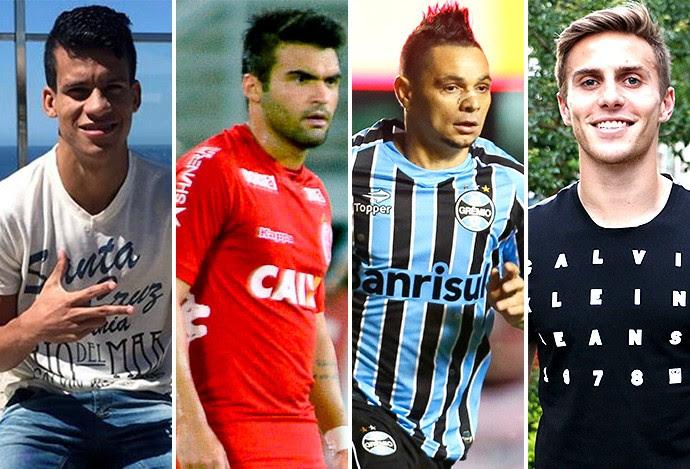 Montagem Jogadores - Thallyson, Arthur Maia, Pará e Bressan (Foto: Editoria de arte)
