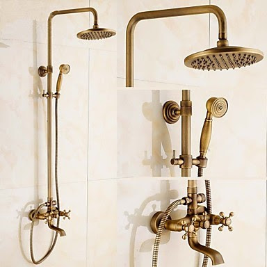 Shower Faucet Traditional Rain Shower Handshower Included Brass