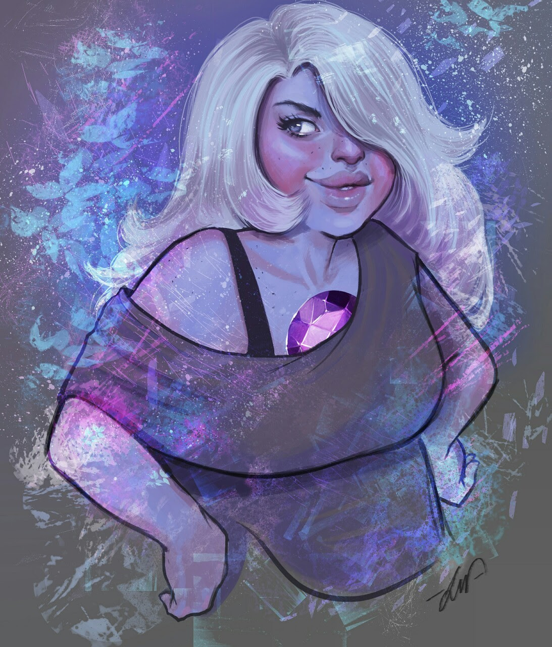 I liked so much to make Garnet, so… I decided to make another one…now Amethyst