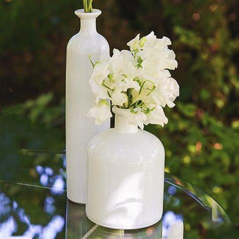 Wedding Decor White Glass Bottle 3 Piece Table Set ? Candy