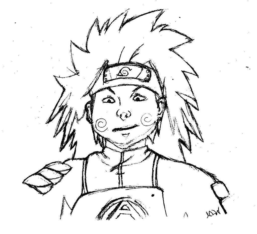 Coloriage  imprimer Personnages cél¨bres Mangas Naruto numéro