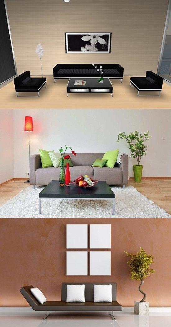 Simple interior design living room - Interior design