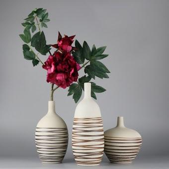 murah modern jianyue putih ruang tamu meja kopi meja makan bunga bunga keramik vas harga diskon