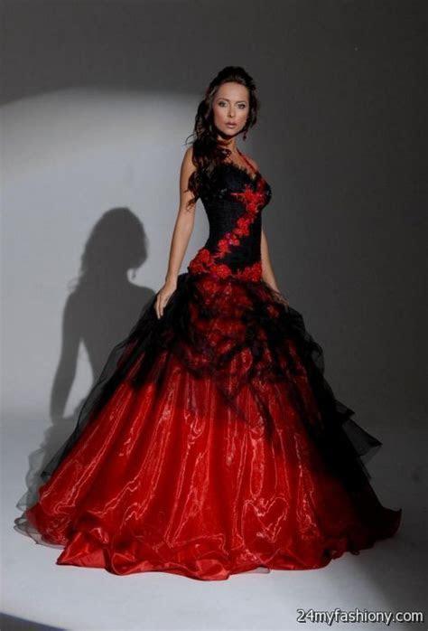 beautiful black and red wedding dresses looks   B2B Fashion