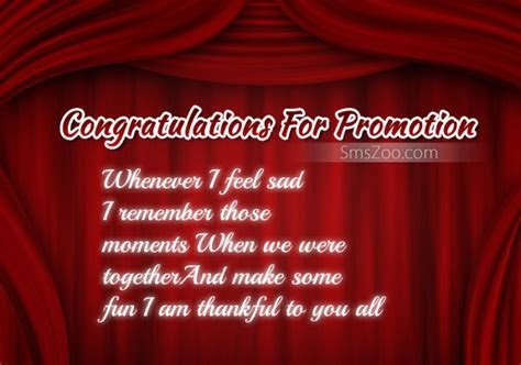 Congratulations Sms For Promotion   Congratulations Messages