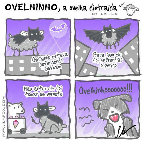 Ovelhinho a ovelha distraída ataca de Batman, by ila fox