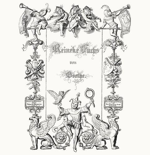 Wilhelm von Kaulbach - Reineke Fuchs, 1857 (Goethe) Titlepage (coconino)
