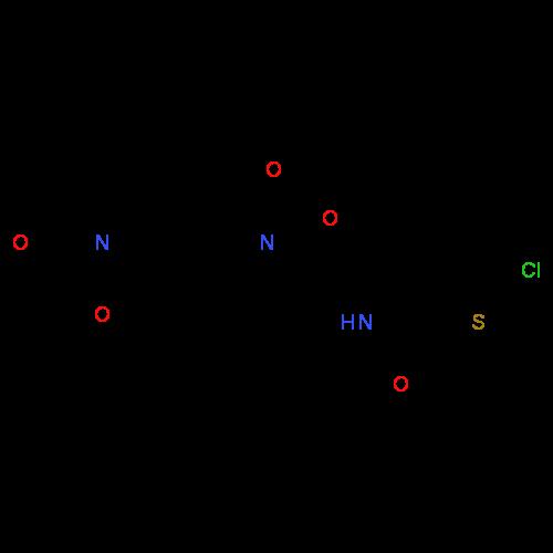 ChemSpider 2D Image | Rivaroxaban | C19H18ClN3O5S
