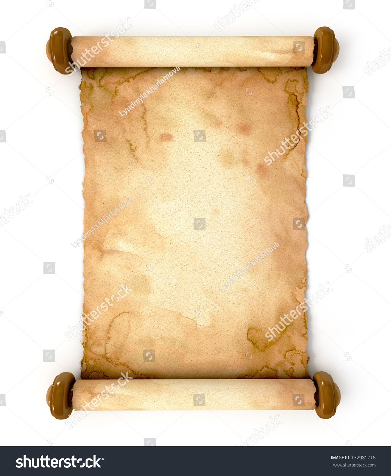 Old Paper Sheet Unfurled Ancient Scroll Stock Illustration ...