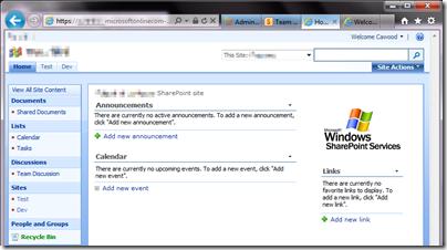 BPOS Site Upgraded Office 365 geeklit.com stephen cawood