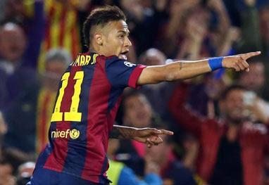 Vingança! Neymar marca gol sobre o goleiro alemão do eterno '7 a 1' - Divulgação/Site Barcelona