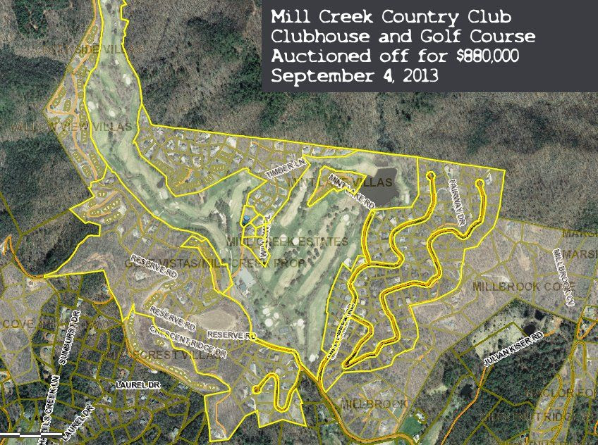 Mill Creek Country Club Property Tract  Map Courtesy Macon County Mapping Department Click to Embiggen the Image