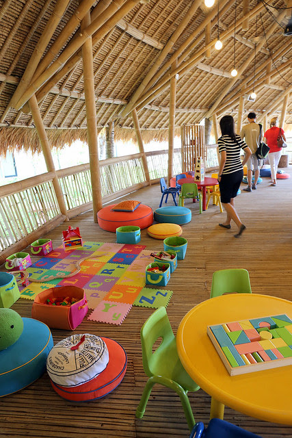 Parents can relax while kids have a ball at the supervised OLO kids club