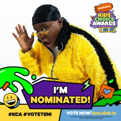 Teni, DJ Cuppy, Justin Bieber, Beyoncé, Kevin Hart, Dwayne Johnson, Lil Nas X And More Bag Nickelodeon's Kids' Choice Nominations