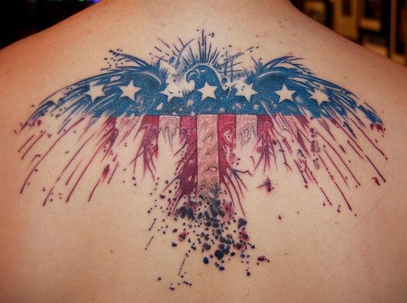 Eagle American Flag Tattoos Tattoos Book 65000 Tattoos Designs