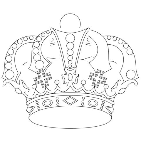Dibujo De Las Joyas De La Corona Para Colorear Dibujos Para