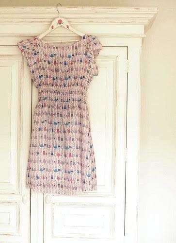 Rabbit print dress