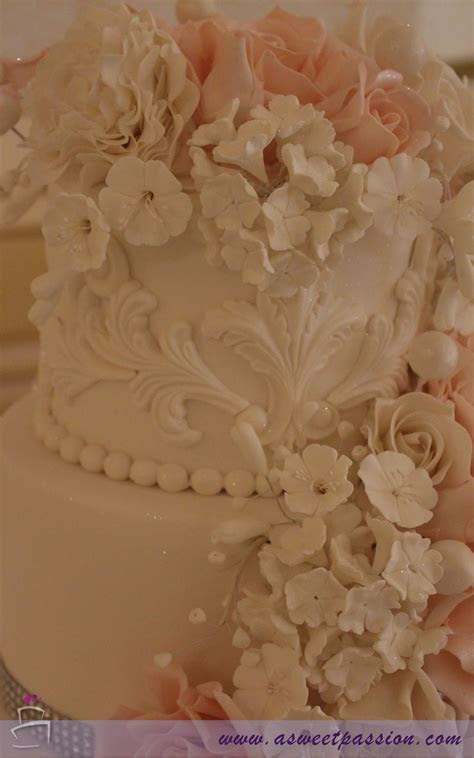Cascading Flowers Wedding Cake ? Sweet Passion Cakery