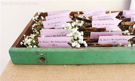 DIY Clothespin Place Card Holders for a Rustic Vintage