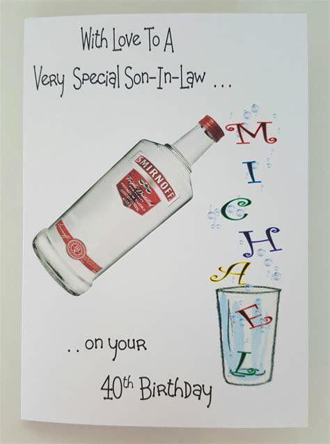 Personalised Birthday Card / Vodka / Whiskey / Gin / Rum