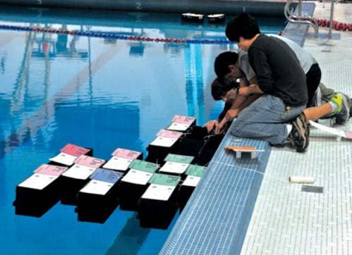 Swimming-pool ships make waves in modular robotics  (w/ Video)