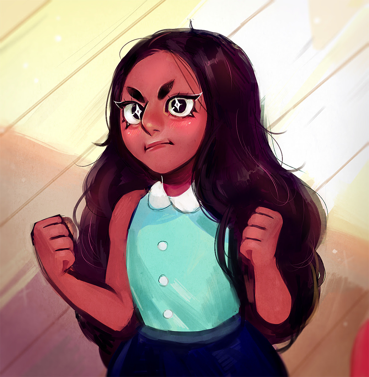 yo tbh this episode was an emotional rollercoaster and connie is super super qt i had to redraw this cap