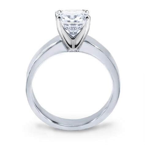 Diamond Engagement Ring   Flat Edge Solitaire Ring from Di