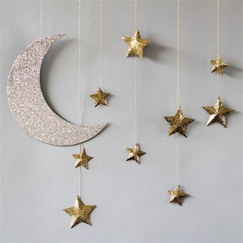 Hanging Moon and Stars Wedding Decorations