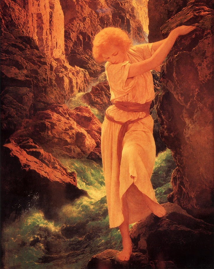 El cañón - de Maxfield Parrish