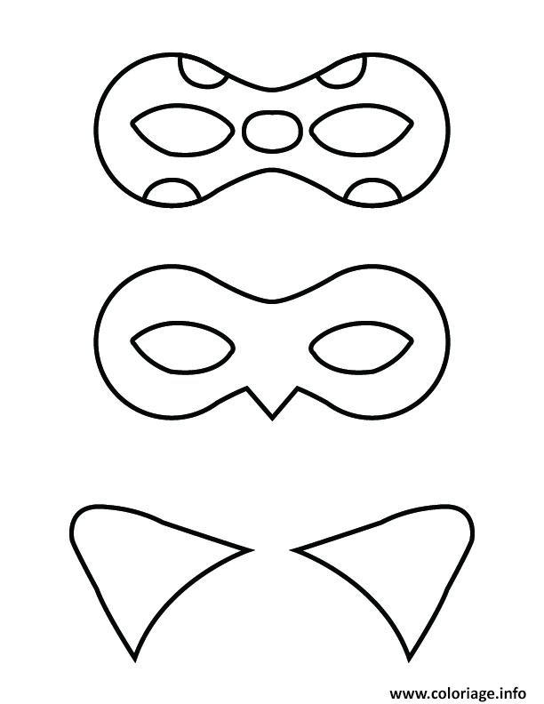 Coloriage Ladybug Et Chat Noir Mask Jecoloriecom