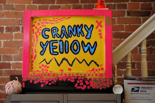 cranky yellow teevee